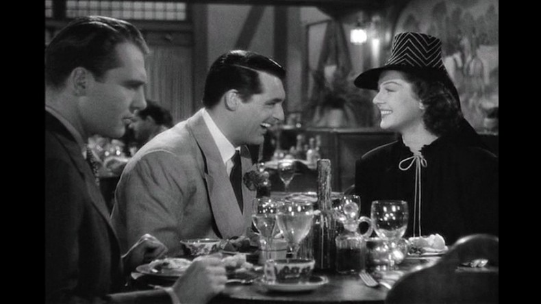 "In ""His Girl Friday,"" Walter woos Hildy over dinner."